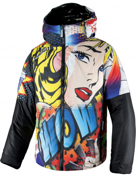 PRINTED SYNTHETIC PADDED JACKET