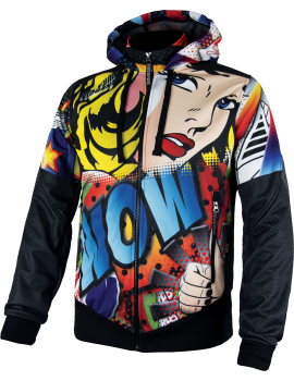LIGHT PRINTED JACKET WITH HOOD