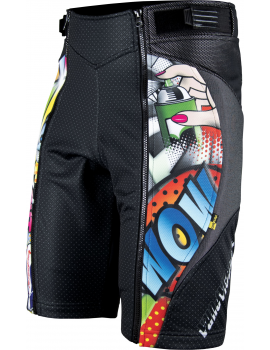 POP ART SHORT PANT WITH PROTECTIONS