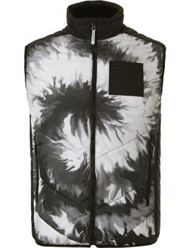 SYNTHETIC PADDED VEST PRINTED